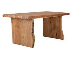 Table à manger AMBER bois d'acacia, naturel clair - L210