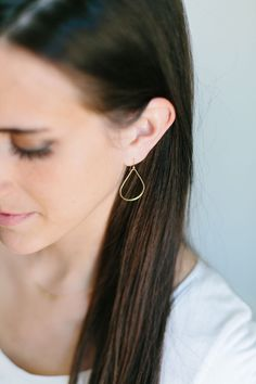 Items similar to Tear Drop Earrings on Etsy Teardrop Earrings, Hoop Earrings, Gold Filled Jewelry, Ear Loop, Solid Gold, Etsy Shop, Kustom, Beautiful, Style