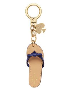 kate spade key fobs flip flop keychain by kate spade new york