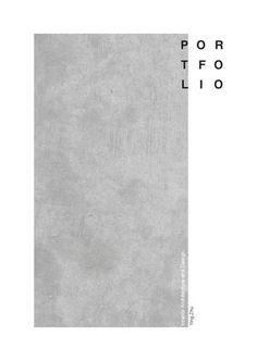 """Portfolio - Cover of """"Portfolio - Interior Design and Des .- Portfolio cover of """"Portfolio – Interior Design and Design"""" – Portfolio Design Layouts, Layout Design, Book Portfolio, Mise En Page Portfolio, Portfolio Covers, Portfolio Resume, Graphisches Design, Page Design, Flat Design"""