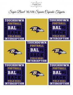 Free Super Bowl party printables #superbowl #ravens