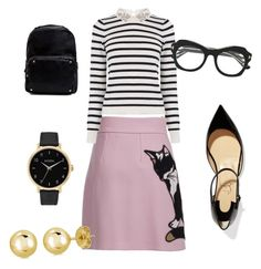 Playful school teacher fashion by chrisluvin on Polyvore featuring polyvore, fashion, style, Oasis, MSGM, Christian Louboutin, Madden Girl, Nixon, BERRICLE, Tom Ford and clothing