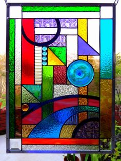 "Stained Glass Window Panel ""Parfait"""