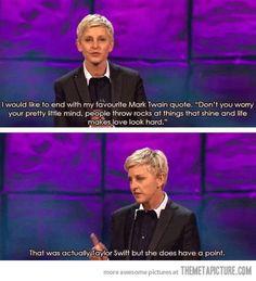Ellen's wise words…