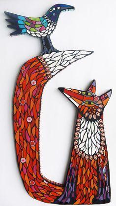 Beautiful fox mosaic by Amanda Anderson.