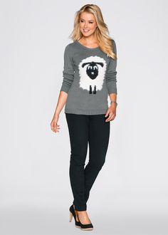 Suéter estampado cinza esfumaçado/crú/preto mesclado encomendar agora na loja…