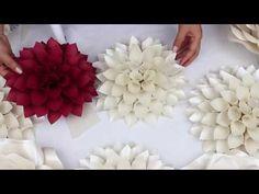 DIY Paper Dahlia Tutorial - My Wedding Backdrop Flowers - YouTube