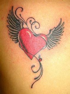 Heart with Angel Wings Tattoo - Bing Images                              …