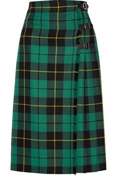 Gucci | Jupe plissée en laine à motif tartan | NET-A-PORTER.COM