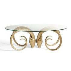 Aries Table in Gold