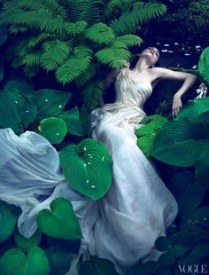 ♂ Fashion photography feminine beauty lady in white Rooney Mara by Mert & Marcus for Vogue US November 2011