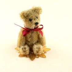 "Janie Comito Collection~ Sweet  3 1/4""  Schuco Bear In Fine Vintage Condition"