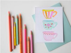 DIY Fun Free  Printable Tea Cards - My Kids are going to Love this!