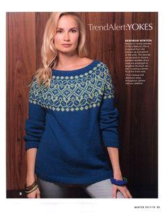 "Photo from album ""Vogue Knitting Winter on Yandex. Vogue Knitting, Knitting Books, Icelandic Sweaters, Cozy Sweaters, Crochet Pattern, Knit Crochet, Fair Isle Pattern, Knitting Magazine, Sweater Design"