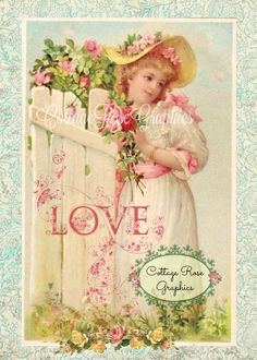 Shabby Chic Vintage French Pink Roses & Pansies Print on Fabric Block FB 237 Valentine Love, Valentine Wishes, Vintage Valentines, Victorian Valentines, Cottage Rose, Old Sheet Music, Pink Images, Vintage Greeting Cards, Collage Sheet