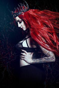"lunarr-mermaid: "" alternativepurple: "" ""by Unholy Beauty Fotodesign \ Model : Missy Queen "" "" Goth blog """