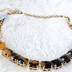 ✨NEW LISTING✨  Kate Spade Necklace NWT tortoise Kate Spade statement necklace. Gold plate overlay. Acrylic. 16-18 inches.  Please make all offers through the offer button  ✨10%✨off with bundle!  Fast Shipping Non-Smoking No trades/PayPal Open to fair offers Instagram: laurentopor Tumblr: nearlynewbylo  ✨ Happy Poshing ✨ kate spade Jewelry Necklaces
