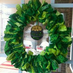 St Patricks Day Rag Wreath at Tracybugdesigns@live.com
