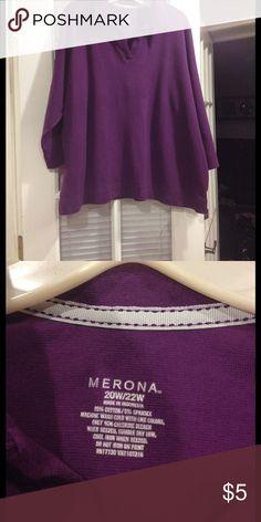 Size 20-22W Merona top good condition Size 20-22W Merona v-neck top good condition Merona Tops