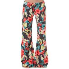 Billabong All Day Long Beach pants Floral Denim, Floral Pants, Funky Pants, Billabong Girls, Beach Pants, Comfy Pants, Grunge Fashion, Long Beach, Playing Dress Up