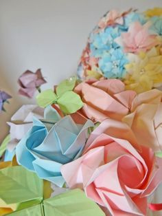 Origami Rose Arrangement / Wedding / Decoration / by Inorigami, $15.99