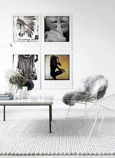 framed art / symmetry / pelt / bertoia