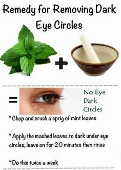 Remedy for Removing Dark Eye Circles