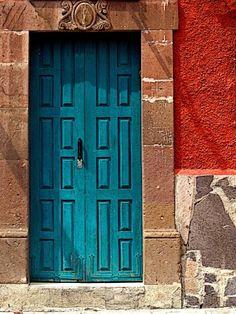 Turqoise Door by Olden Mexico