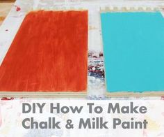 Making your own chalk paint and milk paint is easy and fun. I love how it gives you so much flexibility to make any color you want, plus you can play with consistency and proportions to get a paint that fits your needs perfectly! In this Instructable I'm going to go over two simple recipes that you only need a few ingredients for, all of which you can easily find online.