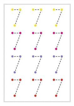 Preschool Workbooks, Preschool Writing, Numbers Preschool, Kindergarten Math Worksheets, Preschool Learning Activities, Teaching Kids, Kids Learning, Learning English For Kids, Math For Kids