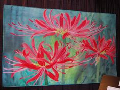 quilt applic red spider lily