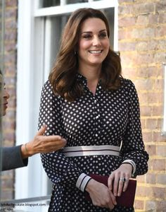 "hrhduchesskate: Foundling Museum, November 28, 2017-Duchess of Cambridge gave a rare comment to the press, stating she and William were ""absolutely thrilled"" about the engagement announcement of Prince Harry and Meghan Markle"