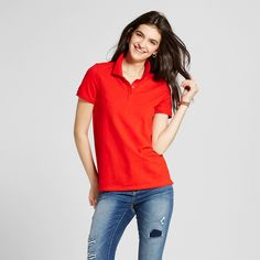 Women's Polo Shirt Red XS - Mossimo Supply Co.