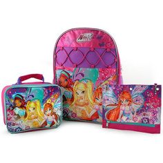 Winx Club Backpack, Lunch Bag and Pencil Case Set