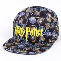 Summer Baseball Cap Snapback Hats Hogwarts Letter Embroidery Cap for Women Men #Affiliate