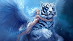 I didn't know to put this in angels or fairy but I think the tiger gives me chills. That would be my angel