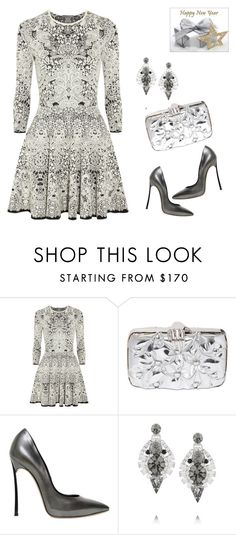 """""""What to wear to celebrate New Year 2015"""" by ketp ❤ liked on Polyvore featuring Alexander McQueen, Benedetta Bruzziches, Casadei and Elizabeth Cole"""