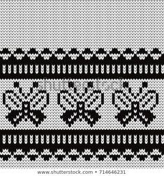 Cross Stitch Embroidery, Cross Stitch Patterns, Fair Isle Knitting Patterns, C2c Crochet, En Stock, Hand Knitting, Fair Isles, Butterfly, Sewing