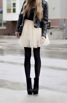 tulle & leather