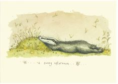 A Sunny Afternoon Fran Evans Badger Illustration, Illustration Art, Badger Images, Anita Jeram, Most Popular Artists, Paper Quilt, Sunny Afternoon, Woodland Fairy, Illustrations And Posters