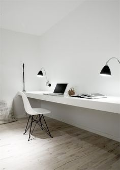 Copenaghen Penthouse I, Frederiksberg, 2009 by Norm Architects #architecture #design #interiors #white #workstation