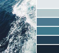 ocean dark blue color scheme #color #palette