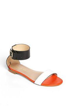 Kurt Geiger London 'Lace' Sandal Black Orange