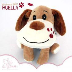 Perro de peluche marrón claro - 16cm - Perros