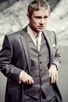 Martin Freeman looking sharp. Martin Freeman, Sherlock Bbc, Benedict Cumberbatch, Beautiful Men, Beautiful People, Amanda Abbington, Mrs Hudson, Benedict And Martin, Mark Gatiss
