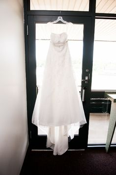 Sarah's beautiful wedding gown from her offbeat Maryland wedding