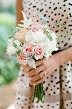 pink, green and black bridemaid style, photo by Amy Majors Photography via Grey Likes Weddings
