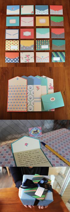 No need to grab a card and an envelope separately! This adorable card can turn into an envelope by folding the card! ^_^