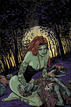 Poison Ivy by Cliff Chiang (from Batman: Gotham Knights Dc Poison Ivy, Poison Ivy Dc Comics, Poison Ivy Batman, Poison Ivy Comic, Batman Gotham Knight, Batman Art, Poison Ivy Character, Pamela Isley, Comic Art