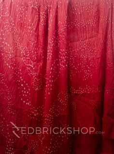 TIE N DYE RED COTTON SAREE   Rs 1359
